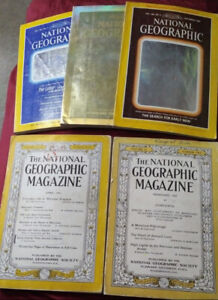 5 Vintage National Geographic Magazines - Holographic Covers