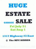 HUGE Estate GARAGE SALE Like FLEA MARKET July 31 DUNNVILLE
