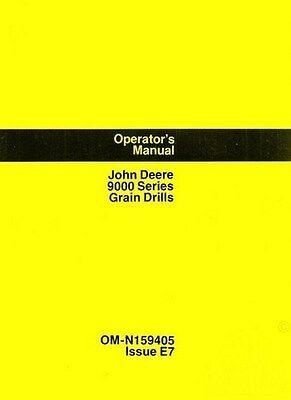 John Deere Model 9000 9300 9350 Grain Drill Owners Operators Manual Jd