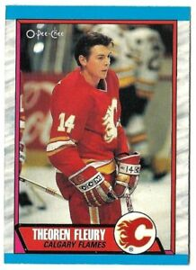 THEO FLEURY .... his ONLY ROOKIE CARD .... 1989-90 O-Pee-Chee