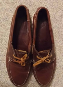 Leather Boat Shoes size 12 Souliers cuir