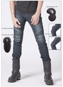 Mens Kevlar Motorcycle Jeans with Knee Armor