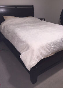 Dark wooden bed frame for sale- perfect condition!