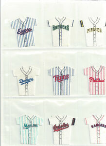 1994 KELLOGG'S MLB BASEBALL MINI JERSEYS~ 15 DIFFERENT
