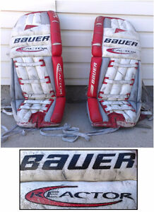 BAUER Reactor! Hockey GOALIE Pads, Made in Canada