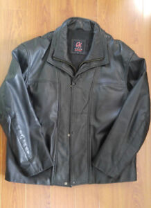 Man Leather Coat AKOURY XL