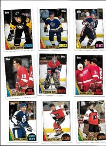 1987/88 TOPPS 198 CARD HOCKEY SET MINTY WELL CENTERED