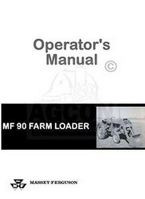 Massey Ferguson 90 Mf90 Tractor Loader Operator Manual