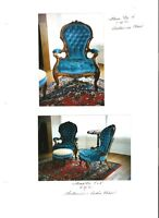 Early Victorian Drawing Room Chairs with matching Footstool