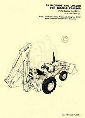 Case 35 Backhoe Loader 580ck-b Parts Catalog Manual