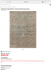 """9'-6"""" by 13' brand new area rug"""