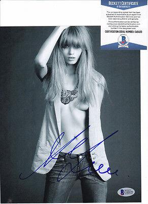 Abbey Lee Kershaw Sexy Model Signed Autograph 8x10 Photo Beckett BAS COA #1