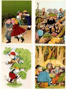 4 cartes postales des Éditions Gallimard