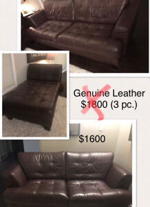 """Leather couches """"Cindy Crawford"""""""