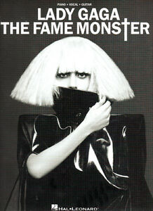 LADY GAGA: The Fame Monster  Piano Vocal Guitar SHEET MUSIC Book