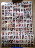 Uncut sheet of 132 different  1992/3 O-Pee-Chee hockey cards