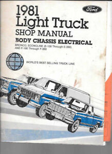 1981 Ford light truck  body chassis elec SM