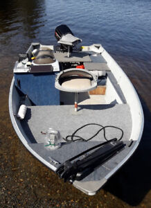 16.6ft  fish and ski aluminum boat with 60HP 2 stroke