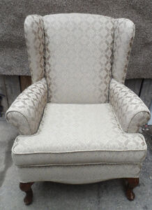 Very Light Sandy Brown WING BACK CHAIR Armchair