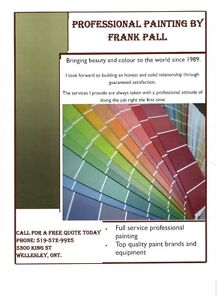 PROFESSIONAL PAINTING BY FRANK PALL AT A PRICE YOU CAN AFFORD Kitchener / Waterloo Kitchener Area image 1