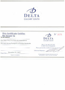 ONE to FIVE NIGHT STAY at the DELTA INN SOUTH CALGARY