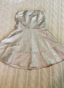 Silver Cocktail Dress - Express - Size 8