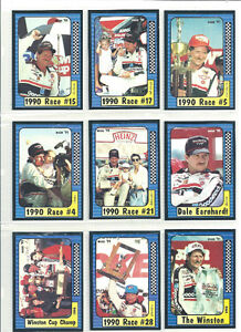 1991 MAXX RACING CARDS OF DALE EARNHARDT ~ ` 9 DIFFERENT