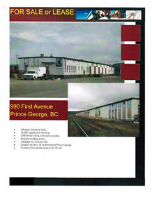 Rail Spur Industrial Building & Property for sale or rent.