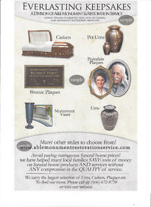 LARGEST SUPPLIER OF CREMATION URNS & FUNERAL PRODUCTS Regina Regina Area image 9