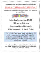 Annual Yards and Yarns Fundraiser!