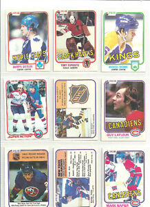 1981 -82 O PEE CHEE NHL CARDS ~ 9 DIFFERENT