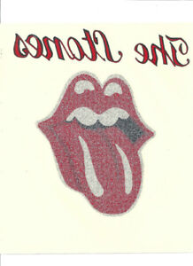 OLDER ROLLING STONES TONGUE MUSIC BAND DECAL PLUS POSTCARD