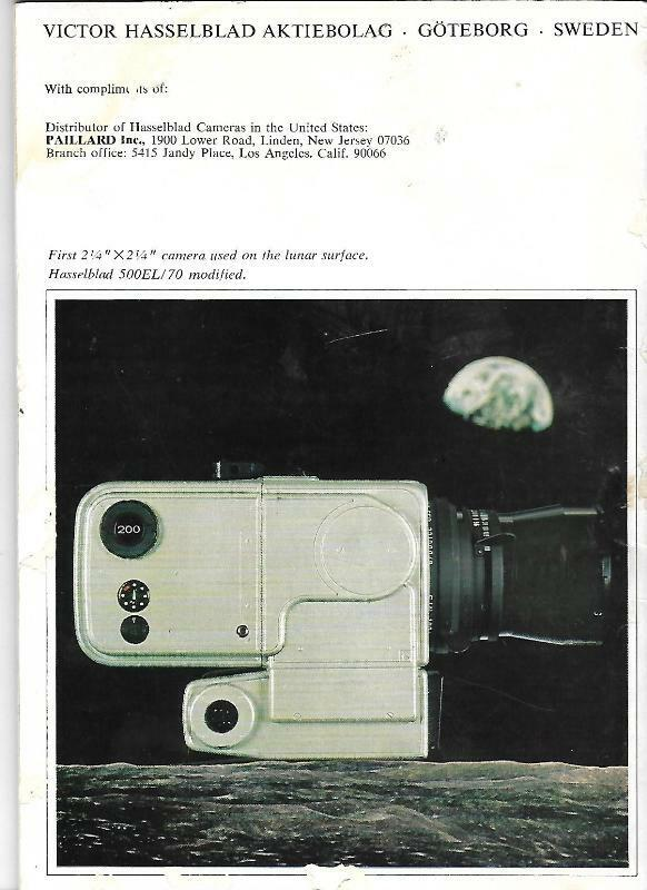 Hasselblad 1970s Camera Lens Accessory Catalog 500C SWC 500EL Zeiss Information  - $18.37