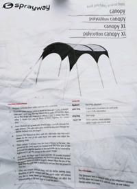 Sprayway Canopy