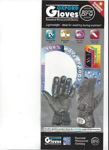 OXFORD - BONE DRY Gloves - XS to XL - NEW at RE-GEAR Kingston Kingston Area image 2