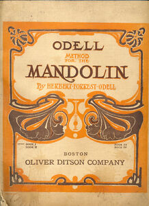 Method for the Mandolin Book 1 by Herbert F. Odell