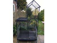 Parrot cage black