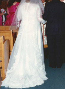 Custom Made Hand Crafted Traditional Wedding Dress & Veil
