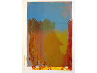 Silk Screen Mono Print 56 x 76 cm framed in white wood