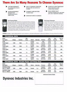 DYNOVAC CENTRAL VACUUM SYSTEMS - MADE IN RED DEER Cambridge Kitchener Area image 2