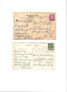 POST CARDS 2 VINTAGE W/STAMPS SEE AD