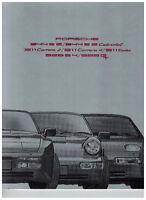 PAMPHLET PORSCHE 911 944 928 (09-90)