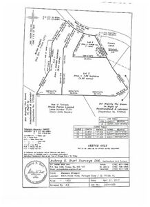 One acre approved lot Portugal Cove - St Philips