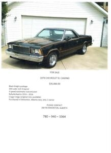 1978 El Camino Black Knight for sale