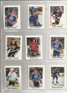 1987-88 OPC 42 CARD MINI LEADERS SET - GRETZKY, ROY ETC