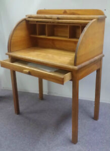 Condo size Canadian Made Mid Century Roll Top Desk
