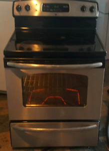 Ge stainless steel glass top stove with self clean