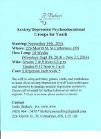 Managing Anxiety/Depression Groups for Youth