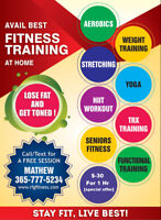 Personal Trainer@Home $30/hr