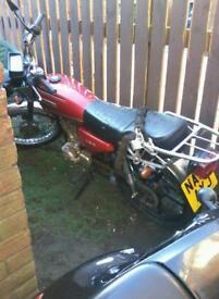 Motorbike Ll125 running order 295 no offers